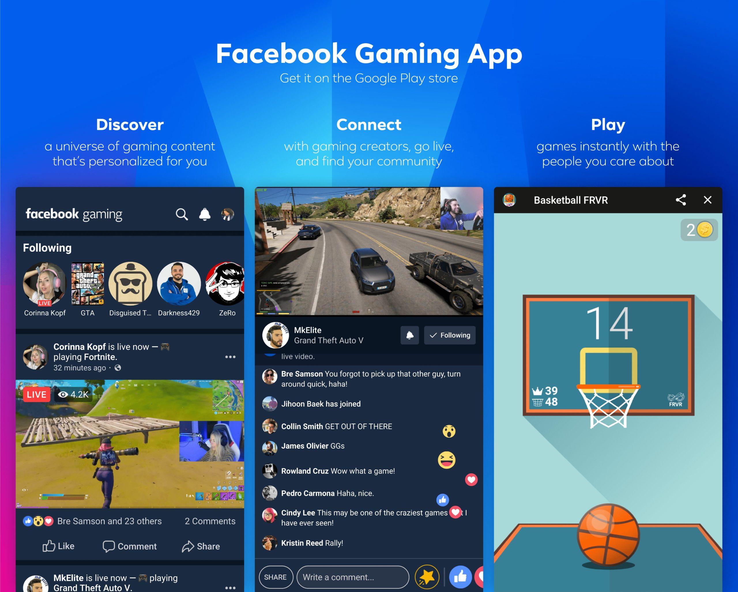 FB gaming app