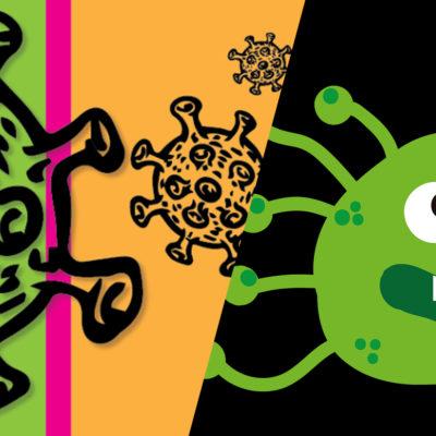flu vs corona germs